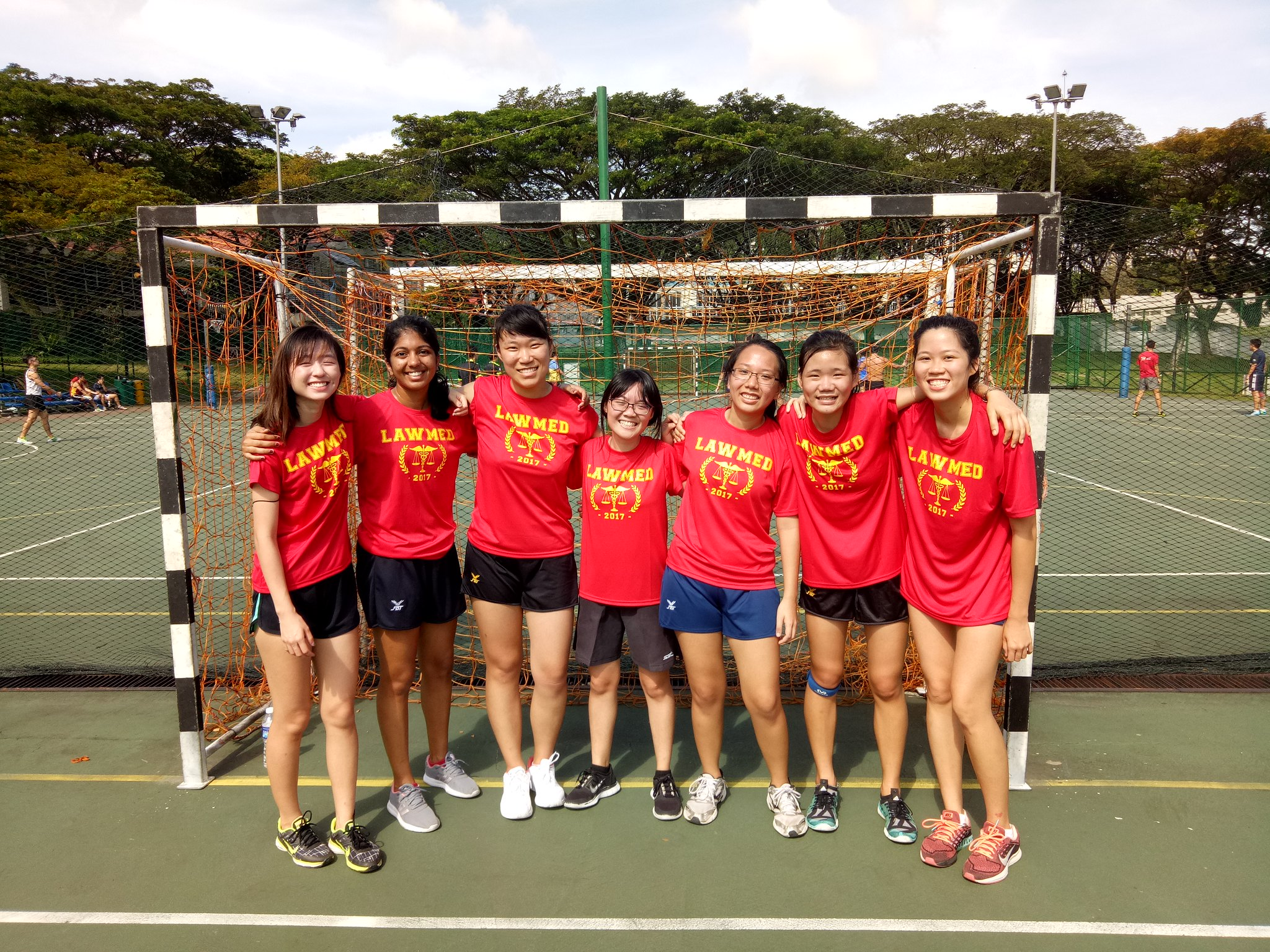 (from left) Zheng Fan, Sumedha, Yufei, Carmen, Yuxin, Joelle, Joan