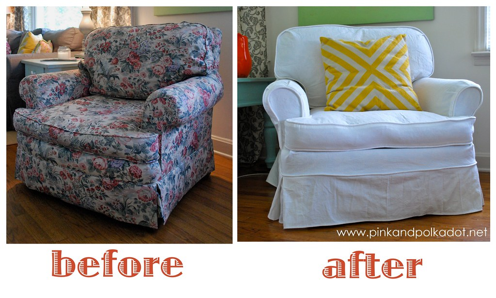 ... White Slipcover Club Chair | By The Slipcover Girl