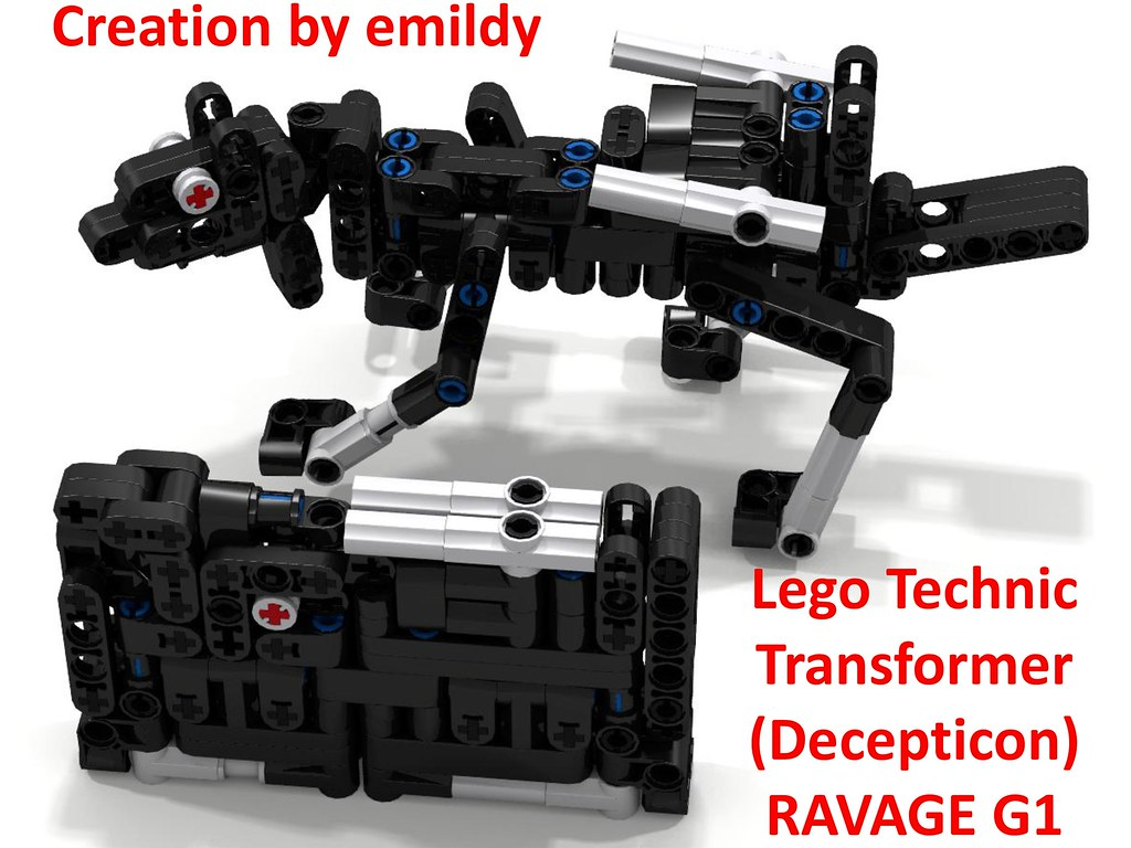 Lego Technic Transformer Decepticon Ravage G1 Page 0 Flickr