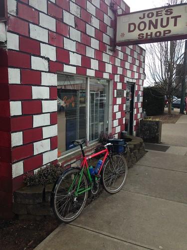 The mountainhack at Joe's Donuts