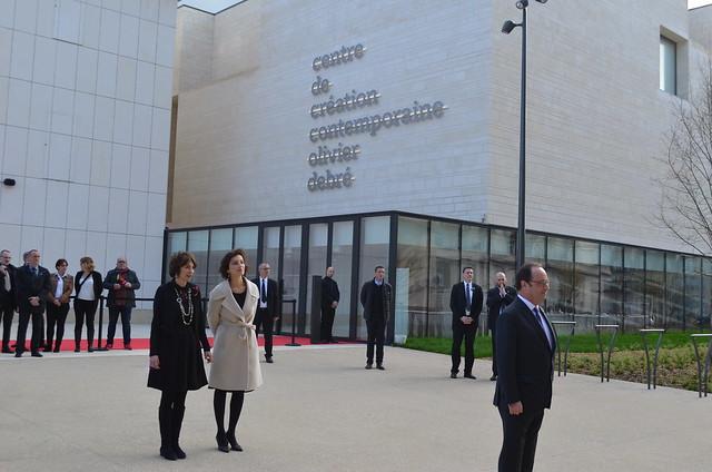Marisol TOURAINE à l'inauguration du Centre de Création Contemporaine Olivier Debré