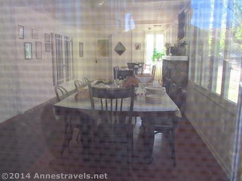 The dining room at Faraway Ranch, Chiricahua National Monument, Arizona