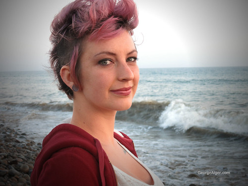 Purple-Haired Beach Girl | by GeorgeAlger.com