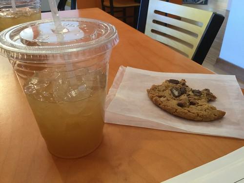 Lemonade and cookie