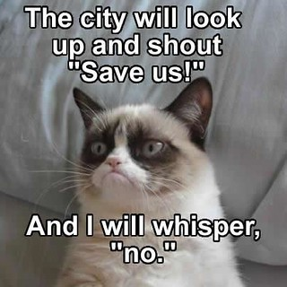Grumpy cat whispers no | by slapcaption