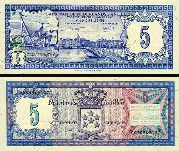 5 Guldenov Holandské Antily 1984, P15b