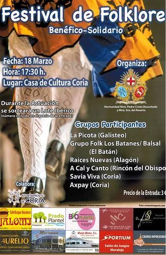 I Festival de Folklore Benéfico-Solidario organizado por la Hermandad de Ntro. Padre Jesús Resucitado y Ntra. Sra. del Rosario
