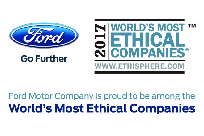 Ford one of World's Most Ethical Companies
