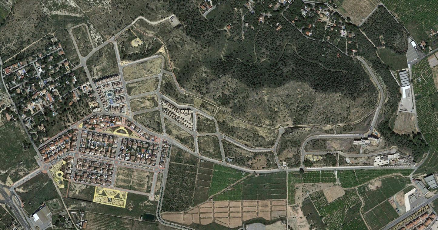 urbanización montecantalar, murcia, singamount, después, urbanismo, planeamiento, urbano, desastre, urbanístico, construcción, rotondas, carretera