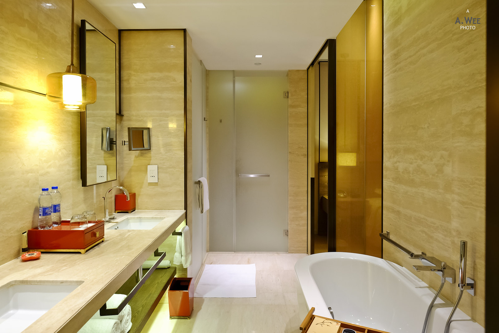 Bathtub and vanity
