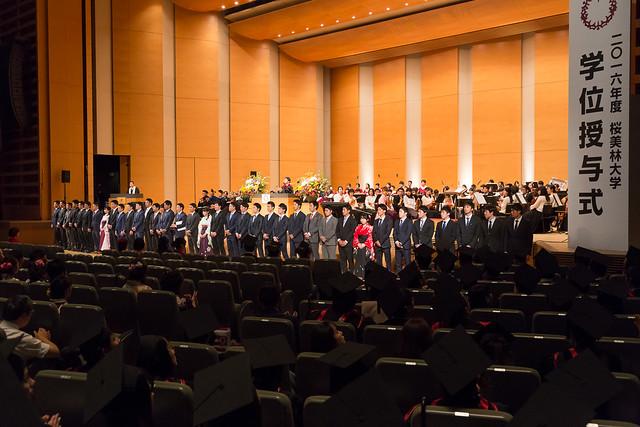 2016年度学位授与式