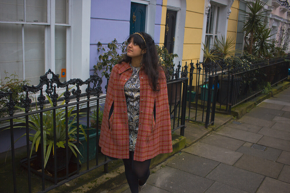 pink cape, tweed cape, growing up, camden, coloured street, kentish town, pretty street, coloured houses, laila, tapeparade