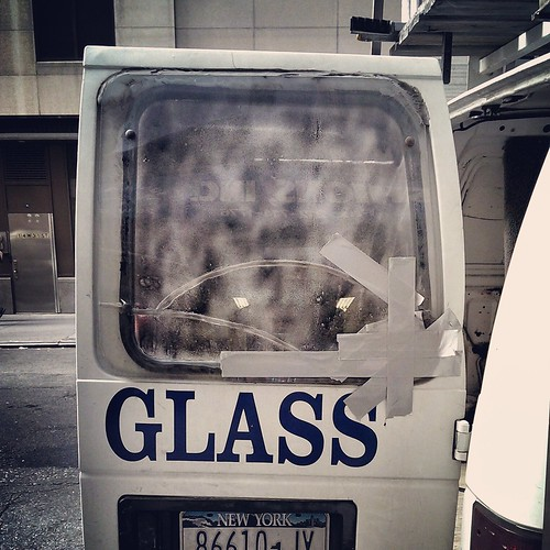 Taped glass #walkingtoworktoday | by Michael Surtees