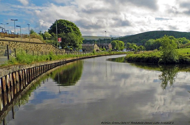 Scenes from the Rochdale Canal between Littleborough and the Summit.