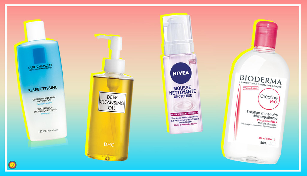 4 products to remove makeup properly