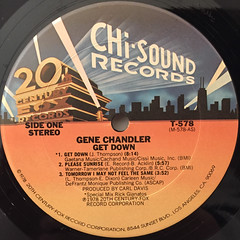 GENE CHANDLER:GET DOWN(LABEL SIDE-A)