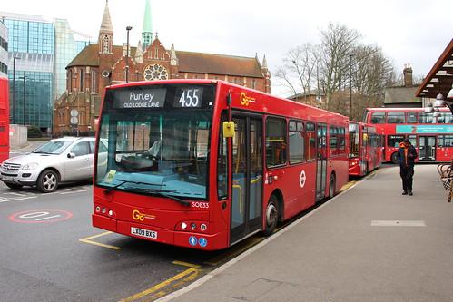 Metrobus SOE33 on Route 455, West Croydon Bus Station