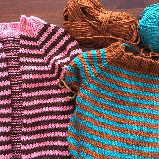 Striping all the things... #knitting