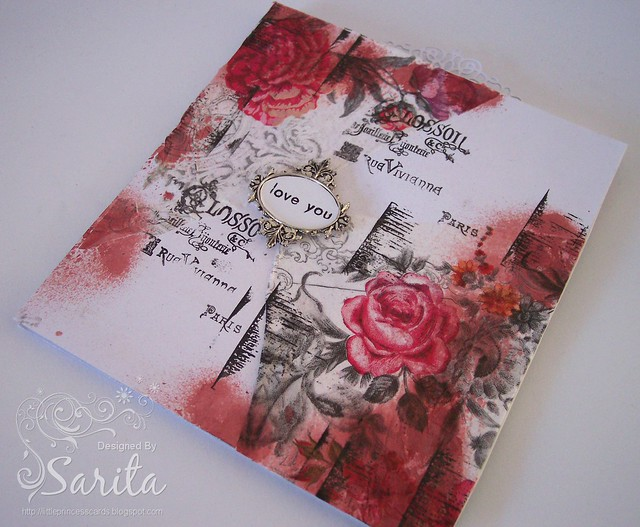 Decoupage napkin card 2
