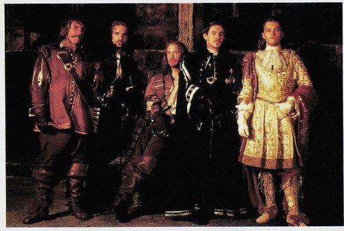 Gérard Depardieu, Jeremy Irons, John Malkovich, Gabriel Byrne and Leonardo DiCaprio in The Man in the Iron Mask (1998)