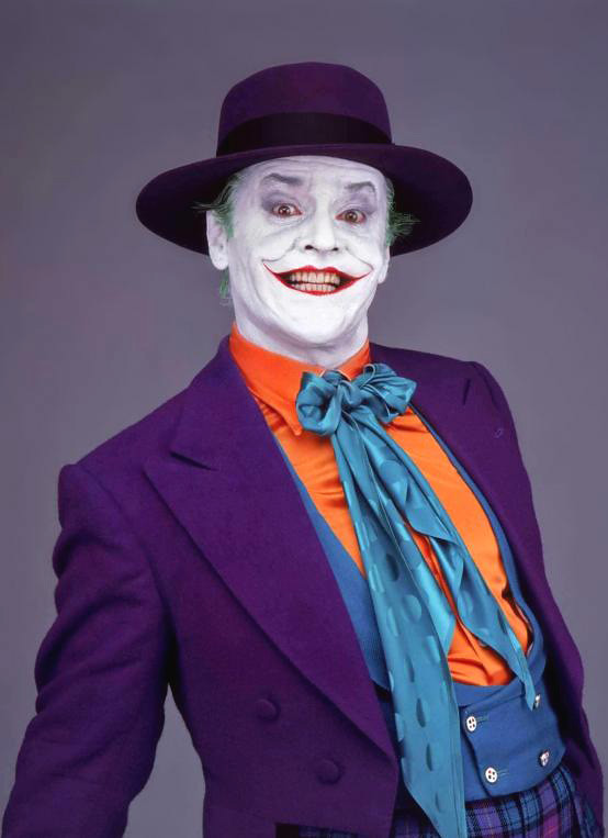 1980s Villains - Jack Nicholson as The Joker in Batman (1989)