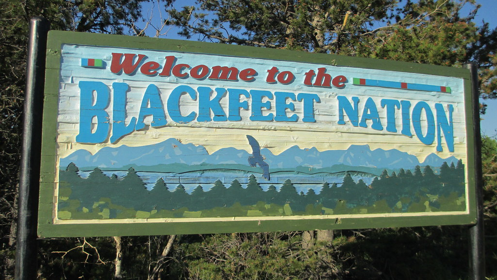 Welcome to the Blackfeet Nation Sign Glacier County Mont  Flickr