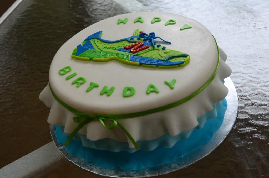 New Balance Running Shoe Birthday Cake By Busy Bee Creatio Flickr