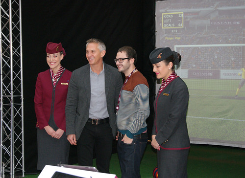 Gary Lineker with Our Multi-Sport Simulator | by PSW Events Ltd