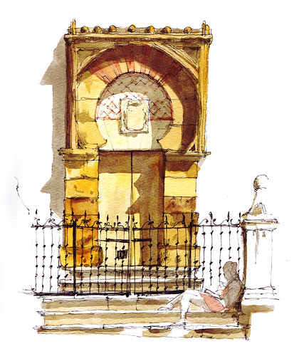 Puerta de la mezquita c rdoba deriva mis dibujos de - Dibujos de puertas ...