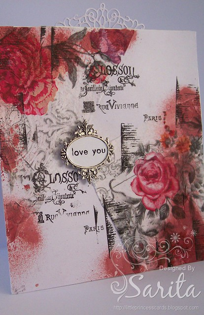Decoupage napkin card 3