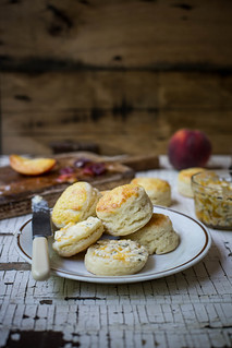 honeysuckle biscuits & sea salt peach butter | by Beth Kirby | {local milk}
