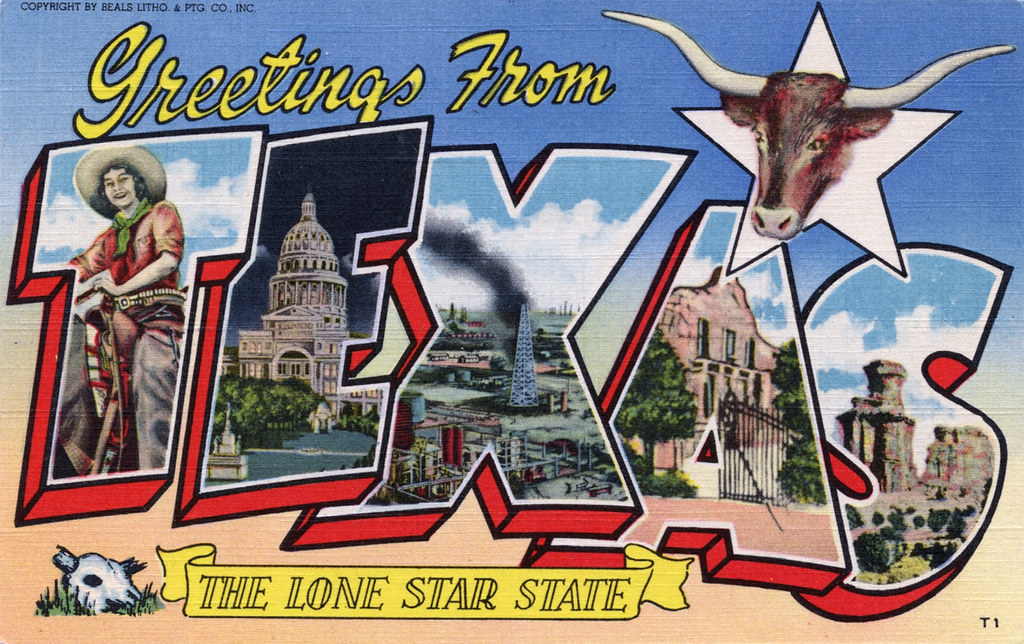 Greetings from texas the lone star state large letter p flickr greetings from texas the lone star state large letter postcard by shook photos m4hsunfo