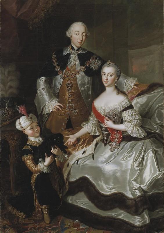 Anna Rosina Lisiewska - Peter III and Catherine II of Russia