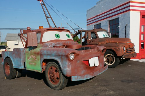 Tow Mater prototype at Cars on the Route - Route 66, Galena, KS | by RoadTripMemories