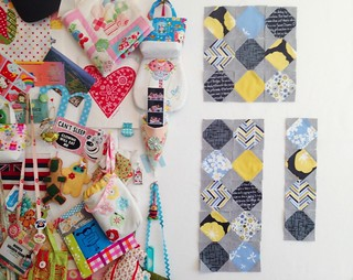 Snowballs for the Quilty Fun Sew Along | by Happy Zombie