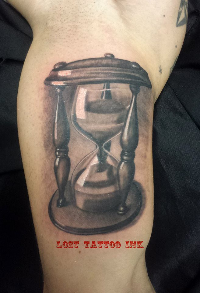 Reloj De Arena Tattoo Blanco Y Negro Byn Copyright 2014 Flickr