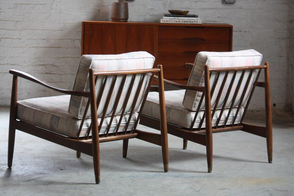 Wonderful Swedish Mid Century Modern Folke Ohlsson Lounge Chairs Model 42 For Dux (