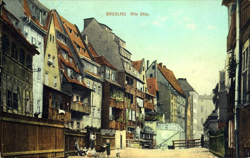 Alte Ohle à Breslau complètement détruite pendant la seconde guerre mondiale.