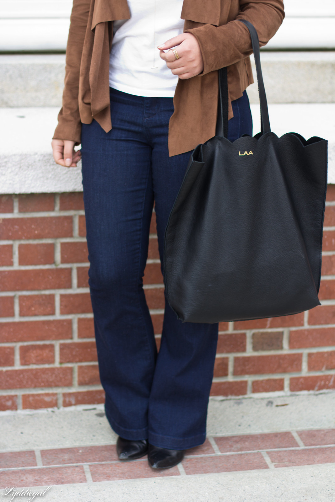 Draped suede jacket, flared jeans, matine tilly tote-4.jpg