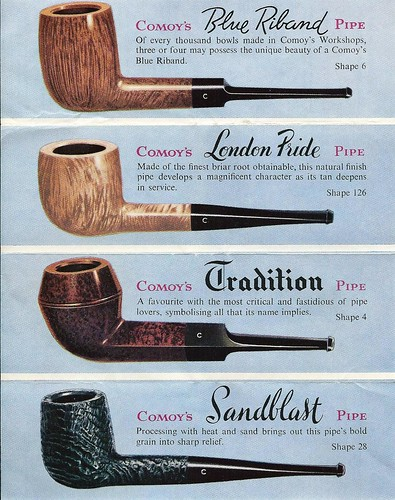 Vintage ad for comoy 39 s of london briar tobacco pipes made for What are old plumbing pipes made of