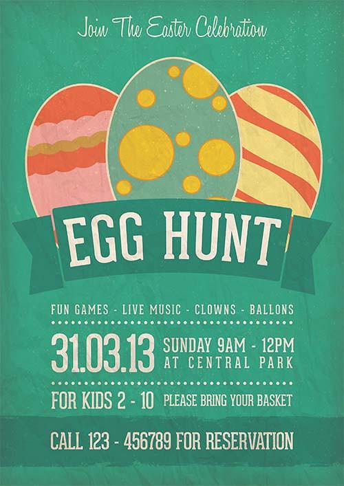 Egg Hunt Easter Celebration Flyer Template Download Link Flickr