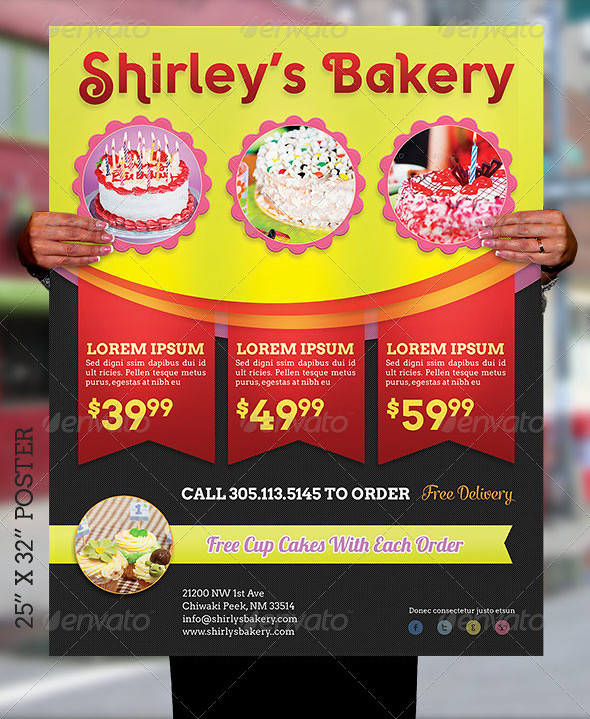 bakery cake flyer and poster template the bakery cake flye flickr