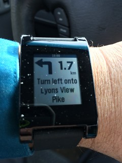 Pebble Smart watch guiding me home | by djuggler