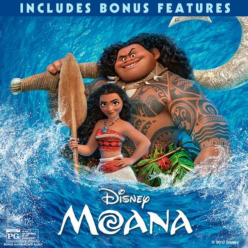 Moana (plus bonus features)