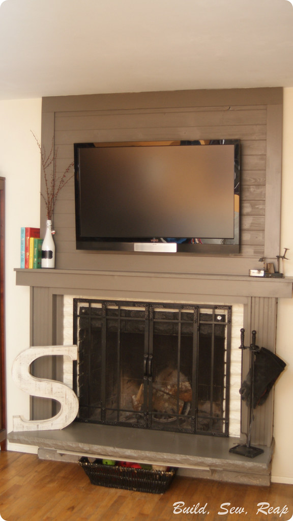 Fireplace Surround DIY on a Budget