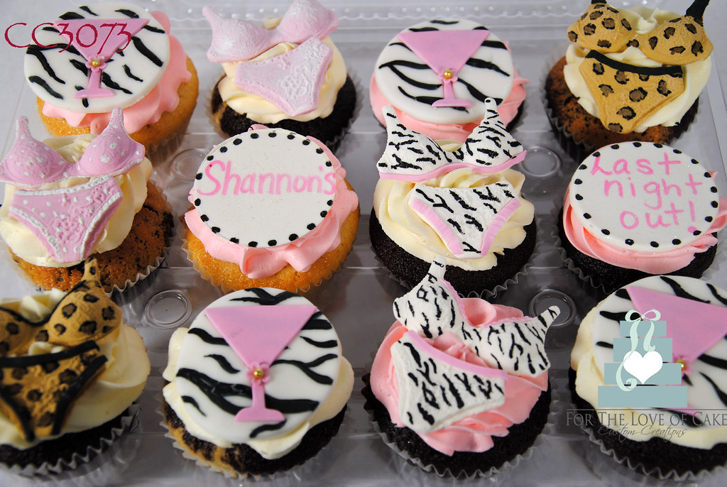 cc3073 lingerie bridal shower cupcakes toronto oakville by www