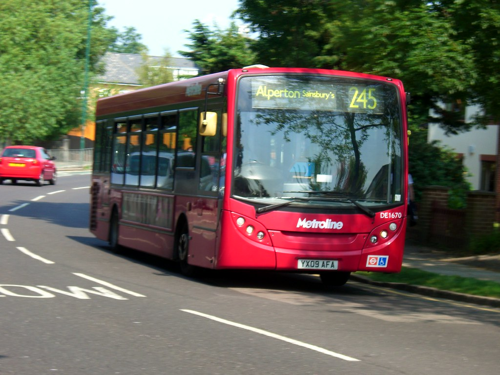 yx09 afa/ de1670 on route 245 to alperton, sainsbury's | flickr