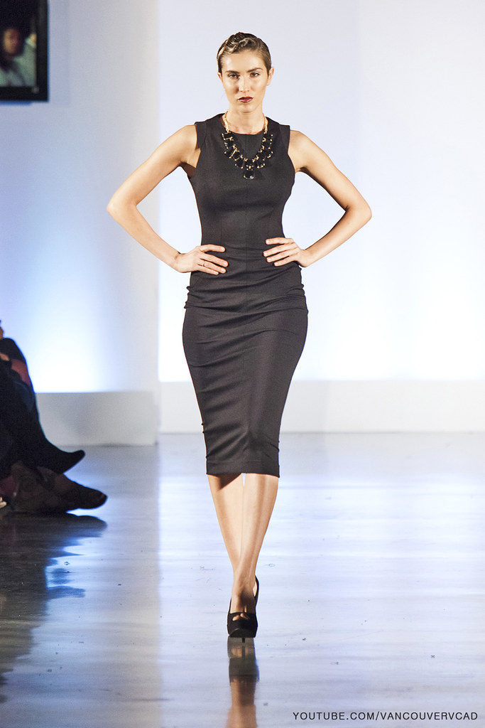 854563e7e10 ... Eco Fashion Week Day 3 Evan Ducharme Fashion Collection Belladonna -  sleeveless knee high dress