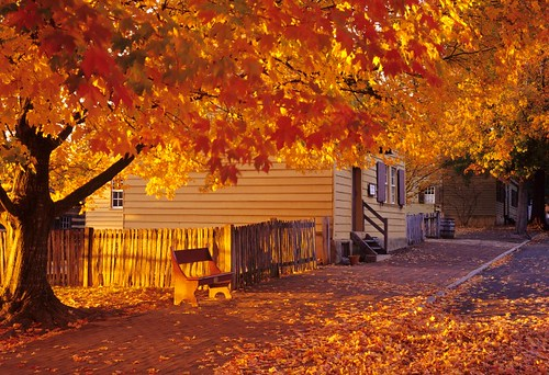 Old Salem in the Fall - Photo by John Rolland | by VisitWS