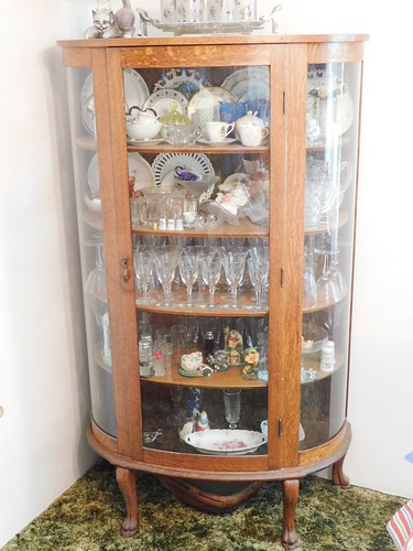 Oak curved glass china cabinet | by thornhill3